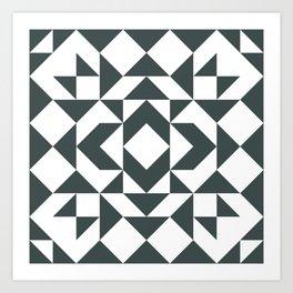 Modern Quilt Block Art Print