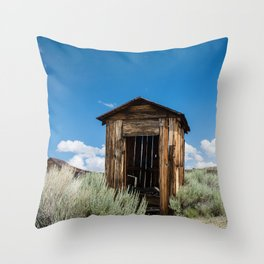 Lone Outhouse Throw Pillow