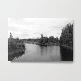 Summer Landscape B&W Metal Print