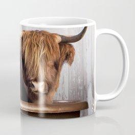 Highland Cow in the Tub Coffee Mug