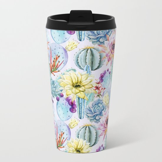 Cactus Pattern 13 Metal Travel Mug