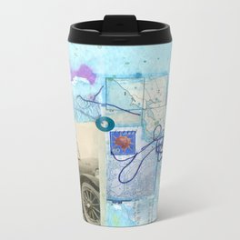 a day by the sea Metal Travel Mug