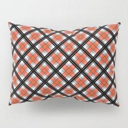 Black and orange plaid Pillow Sham