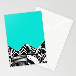 Sky lino bright Stationery Cards