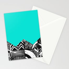 Sky lino bright Stationery Cards