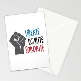 Liberte, Egalite, Sororite Stationery Cards