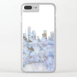 Houston Texas Skyline Clear iPhone Case