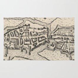 Vintage Map of Limerick Ireland (1618) Rug