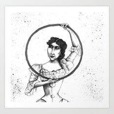 Circus Hoop Dancer Art Print