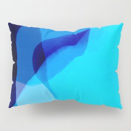 blue winter ice now abstract watercolor Pillow Sham