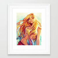 summer Framed Art Prints featuring Summer by loish