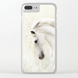 White Stallion Clear iPhone Case