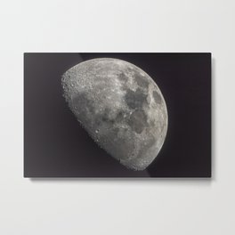 Waxing Gibbous Moon Metal Print