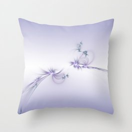 Fey Lights Fractal in Violet Throw Pillow