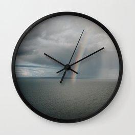 Rainbow I - Landscape and Nature Photography Wall Clock