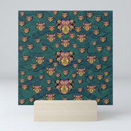 Hearts and Sun flowers in decorative happy harmony Mini Art Print