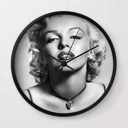 Marylin Monroe Print Poster02 Wall Clock