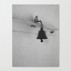 Bell in old house Canvas Print