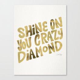 Shine On You Crazy Diamond – Gold Palette Canvas Print