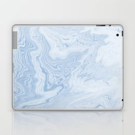 Marble suminagashi pastel blue minimal marbling spilled ink japanese decor Laptop & iPad Skin