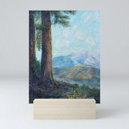 Redwood Grove, Santa Cruz, California landscape painting by Leonora Naylor Penniman Mini Art Print
