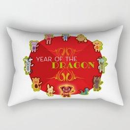 Chinese Zodiac - Year of the Dragon Rectangular Pillow