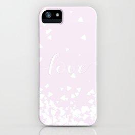 Delicate Love Rose Pink Glitter Design iPhone Case