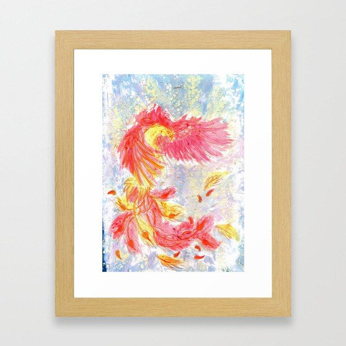 Firey Phoenix Framed Art Print