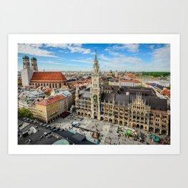 The main square of Munich - Marienplatz Art Print