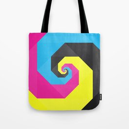 CMYK triangle spiral Tote Bag