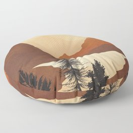 River Canyon Floor Pillow