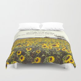 Proverbs and Sunflowers Duvet Cover