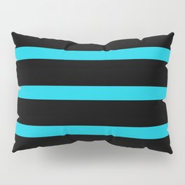 Hollywood Nights Black and Teal Stripes Pillow Sham