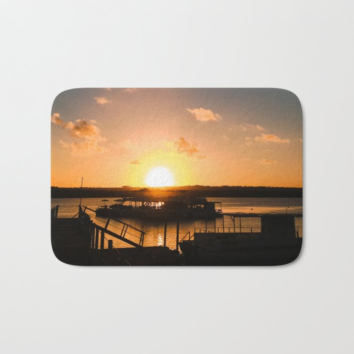 Sun is Going Down Bath Mat
