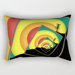 Spinning Disc Golf Baskets 3 Rectangular Pillow