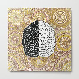 Big Brain ! Metal Print