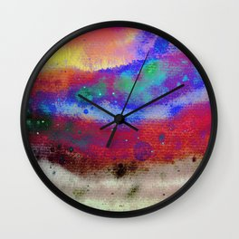 Kraft Paper Colorful Abstract Wall Clock