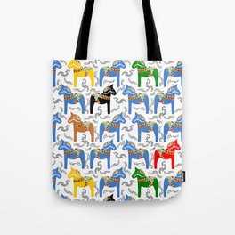 Dala Horse pattern Tote Bag