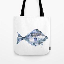 Flat Fish Watercolor Tote Bag