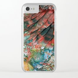 Red Parrot Clear iPhone Case