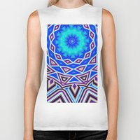 sacred geometry Biker Tanks featuring Sacred Geometry by Michael White