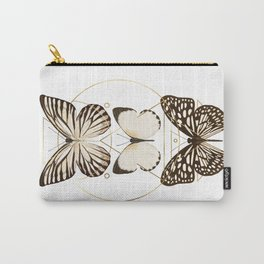 butterflies and gold geometry Carry-All Pouch