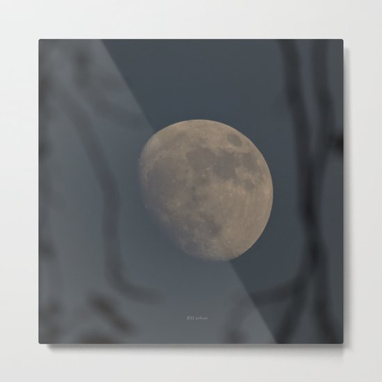 Moon at Three-Quarters Metal Print