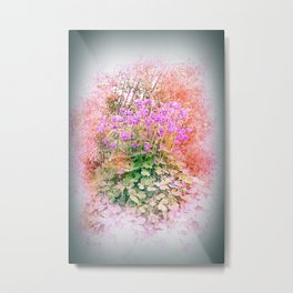 pastell colored flowers Metal Print