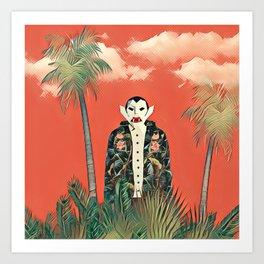 Dracula in the jungle Art Print