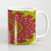mandela Mugs featuring Colored Mandela by LEEMARIE