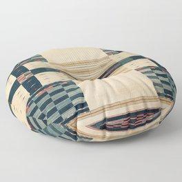 V43 Old Epic Moroccan Carpet Design Floor Pillow