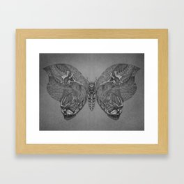 Butterfly skulls 1 Framed Art Print