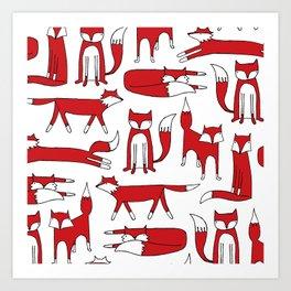 Fox Frenzy Art Print