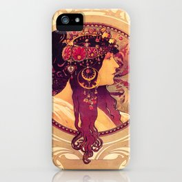 Alphonse Mucha, Art Nouveau iPhone Case